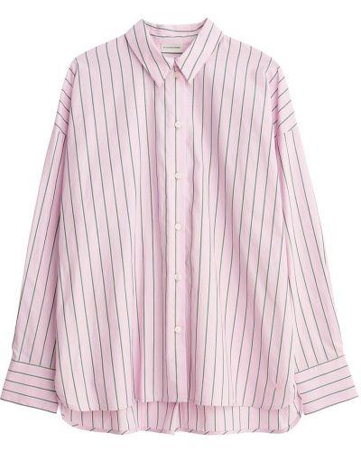 Koszula oversize w paski z długimi rękawami By Malene Birger