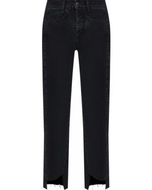 Черные укороченные джинсы с карманами на пуговицах в стиле бохо Gender Denim