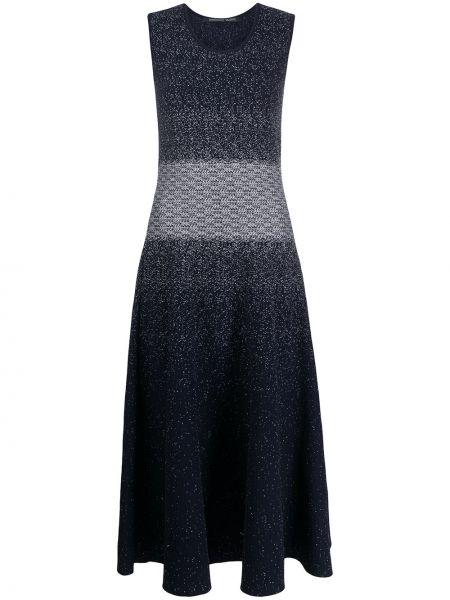 Niebieska sukienka długa z wiskozy bez rękawów Antonino Valenti