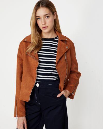 Замшевая кожаная куртка Koton