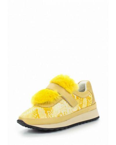 Желтые кроссовки с мехом Grand Style