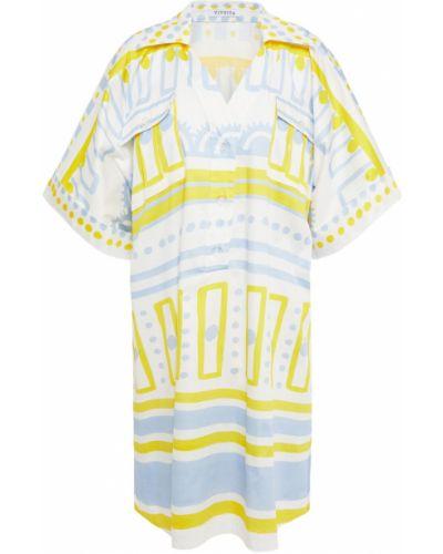 Biała sukienka koszulowa bawełniana Vivetta
