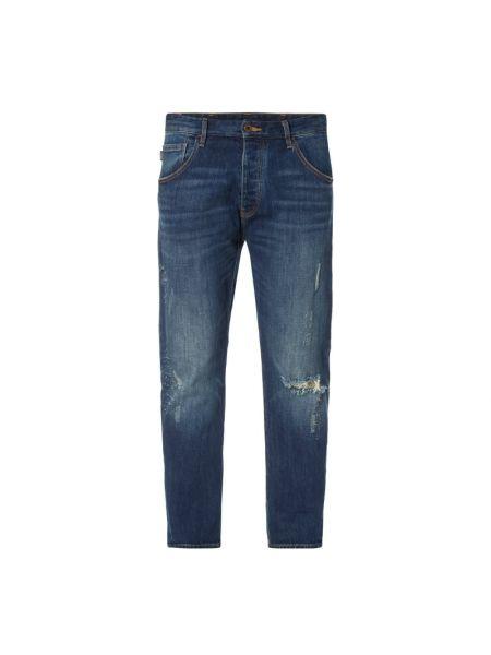 Mom jeans bawełniane - niebieskie Armani Jeans