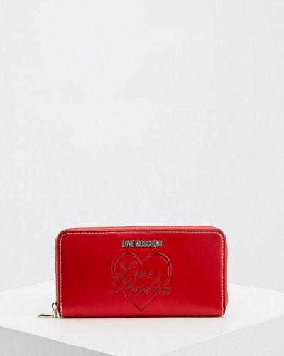 Красный кошелек Love Moschino