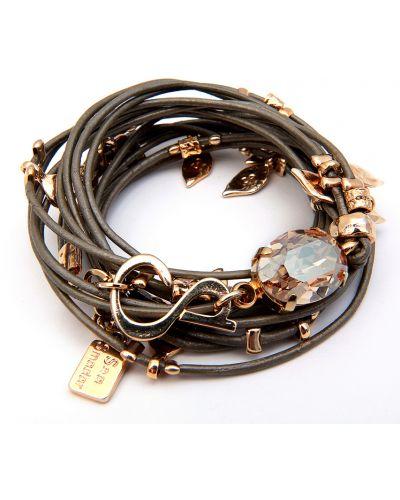 Кожаный браслет коричневый Sea