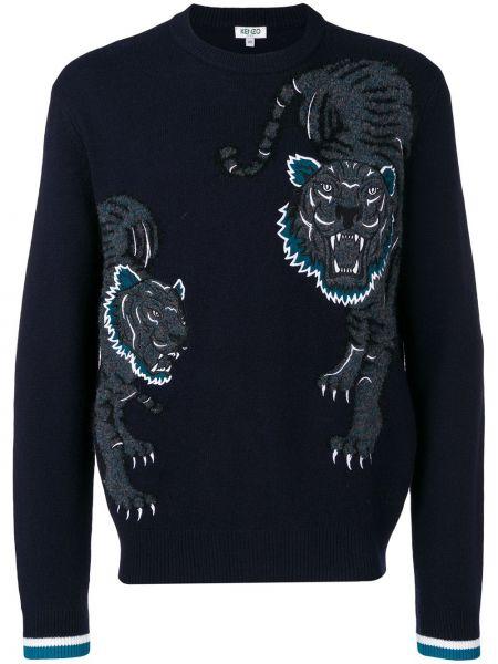 Sweter wełniany - niebieski Kenzo