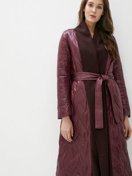 Теплая красная утепленная куртка Clasna