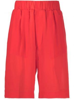 Красные с завышенной талией шорты с карманами Jejia