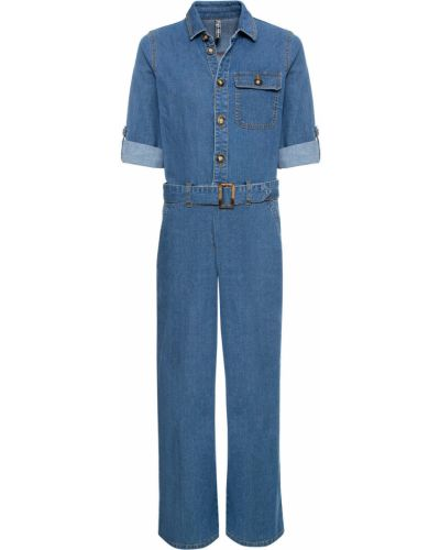 Синий джинсовый комбинезон Bonprix