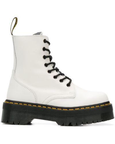 Ботинки на молнии белые Dr. Martens