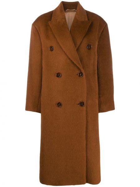 Длинное пальто оверсайз без воротника Acne Studios