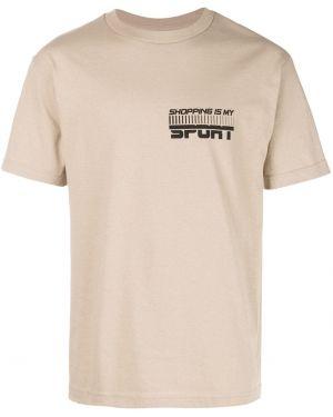 Коричневая спортивная футболка The Celect