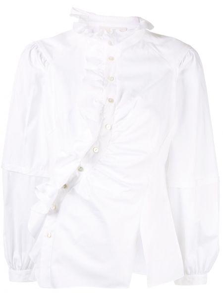 Biała koszula bawełniana z długimi rękawami Peter Pilotto