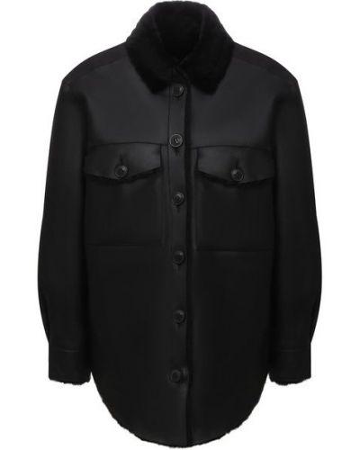Куртка из овчины - черная Forte Dei Marmi Couture