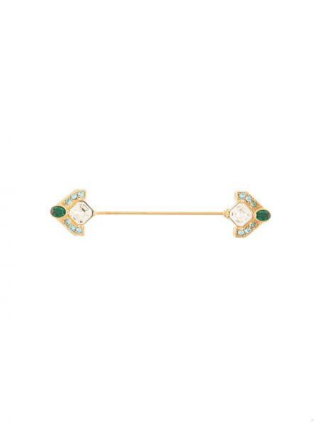Брошь золотая металлическая Dolce & Gabbana