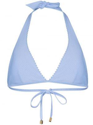Нейлоновый синий лиф с воротом халтер Heidi Klein
