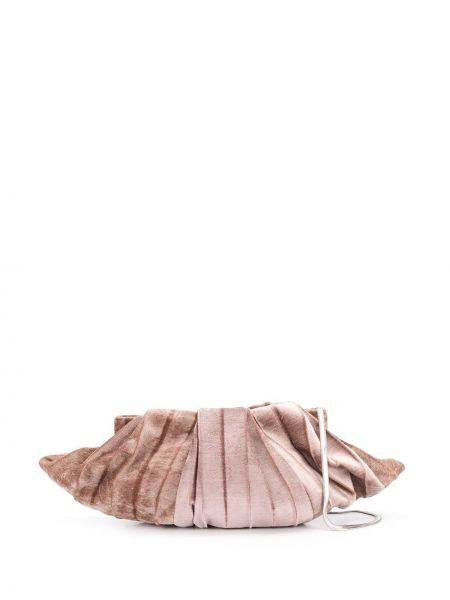 Шелковая розовая сумка на цепочке Cecchi De Rossi