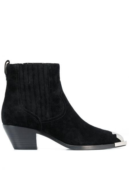 Kowboj buty z ostrym nosem czarne Ash