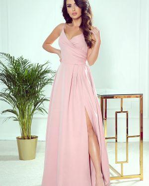 Sukienka długa elegancka materiałowa oversize Numoco