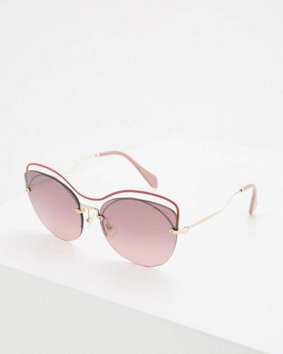 Красные солнцезащитные очки Miu Miu