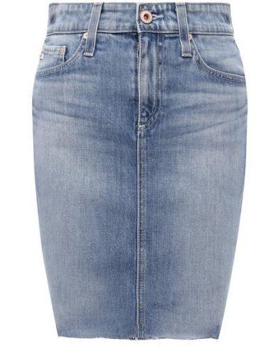Голубая джинсовая юбка Ag