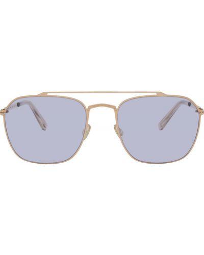 Fioletowe złote okulary Maison Margiela