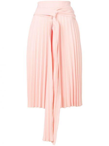Розовая плиссированная юбка в рубчик Ioana Ciolacu