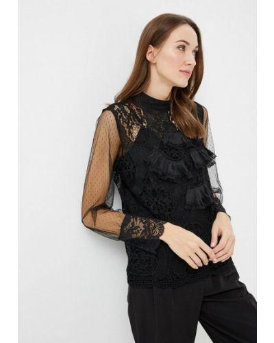 Блузка кружевная черная Paccio