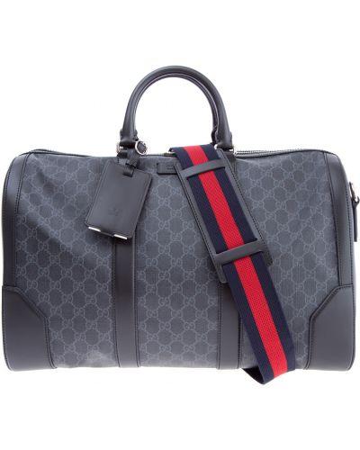 Кожаная сумка с отделениями с узором Gucci