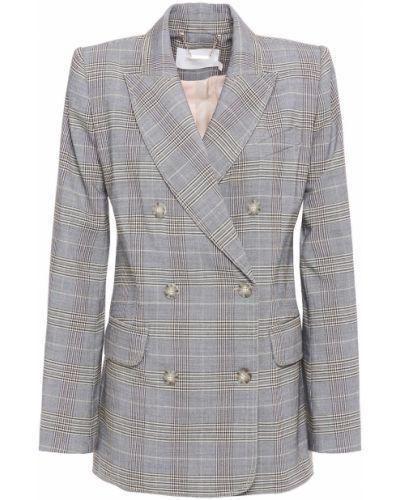 Серый пиджак двубортный с карманами Zimmermann