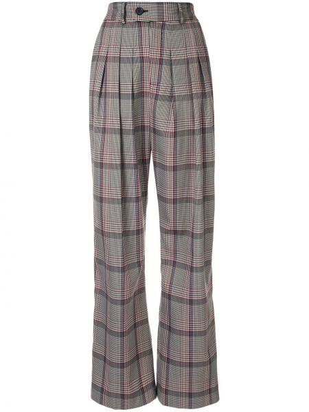 Шерстяные брюки - серые Strateas Carlucci