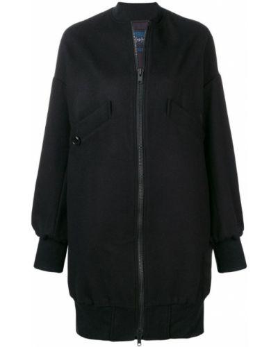 Черная длинная куртка Yohji Yamamoto