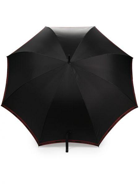 Wodoodporny czarny parasol przycięte Alexander Mcqueen
