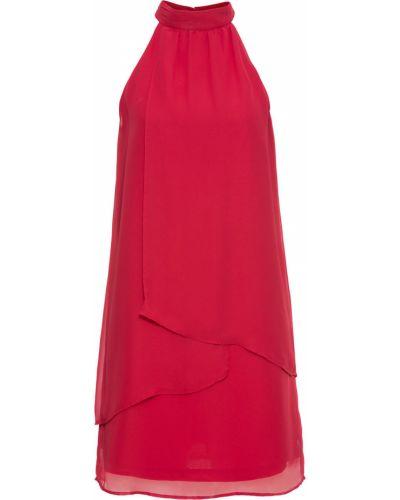 Коктейльное платье с американской проймой с воротником Bonprix