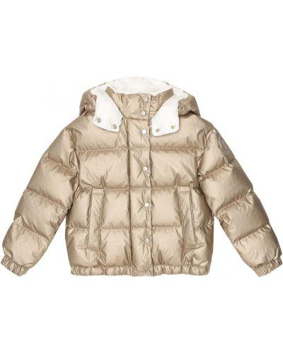 Bawełna bawełna płaszcz złoto Moncler Enfant