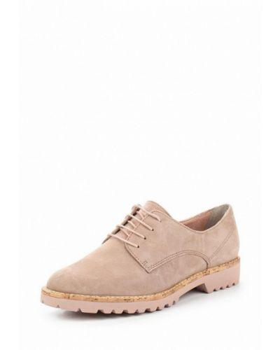 Розовые ботинки замшевые Tamaris