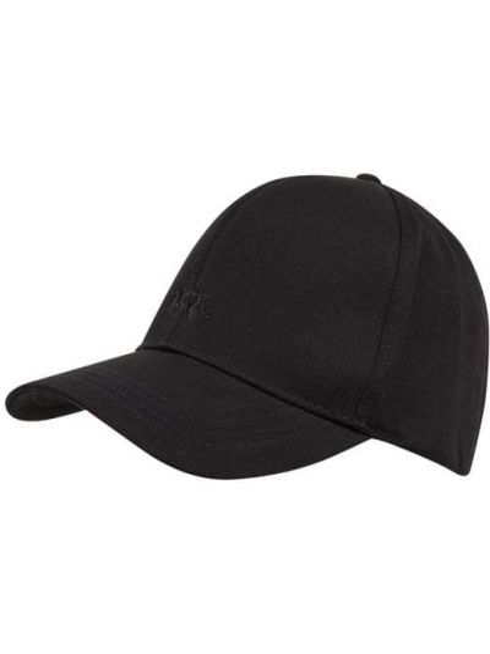 Czarna czapka z daszkiem bawełniana La Martina