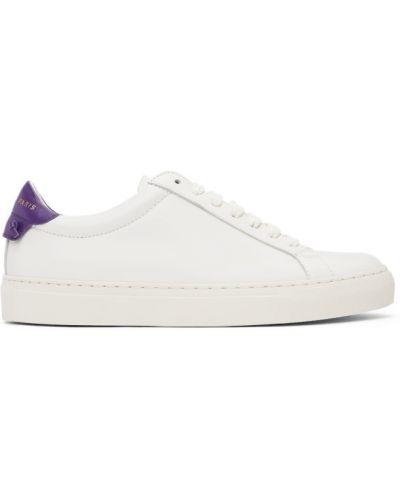 Кожаные белые кроссовки на каблуке Givenchy