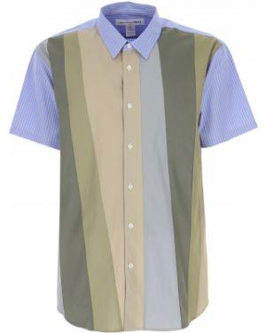 Koszula krótkie z krótkim rękawem w paski z paskami Comme Des Garcons