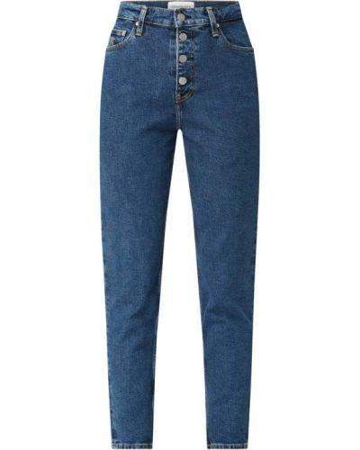Bawełna bawełna niebieski jeansy z paskami Calvin Klein Jeans