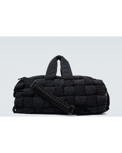 Sport czarny nylon sport torba przeoczenie Bottega Veneta