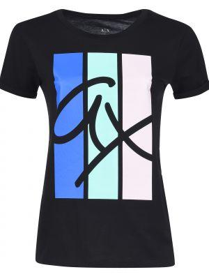 Футбольная черная футболка Armani Exchange