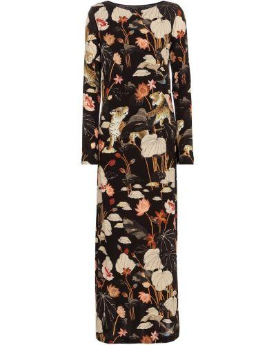 Черное платье макси из вискозы Etro