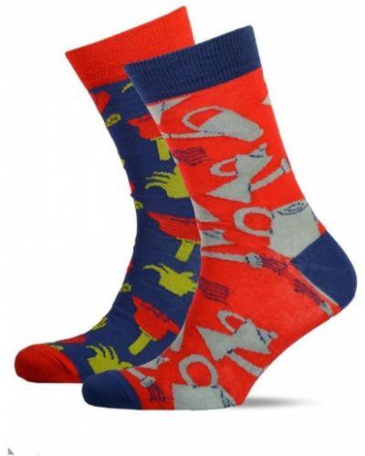 Синие хлопковые носки высокие с рисунком Sammy Icon