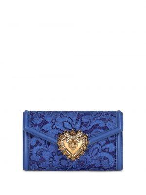 Кожаный кошелек - синий Dolce & Gabbana