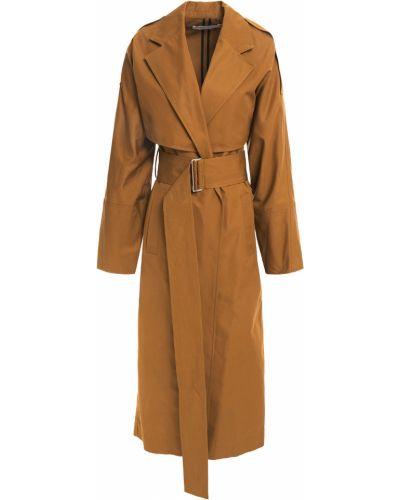 Ватное пальто с карманами из верблюжьей шерсти Victoria Beckham