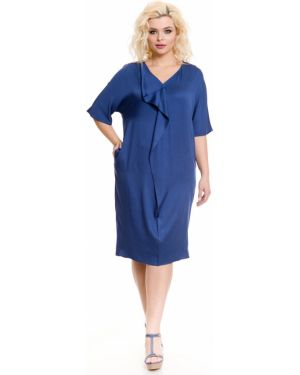 Повседневное платье из штапеля с V-образным вырезом Novita