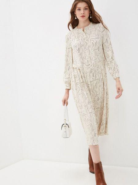 Повседневное платье бежевое весеннее Marks & Spencer
