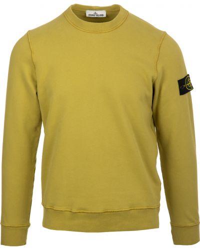 Bluza bawełniana - żółta Stone Island