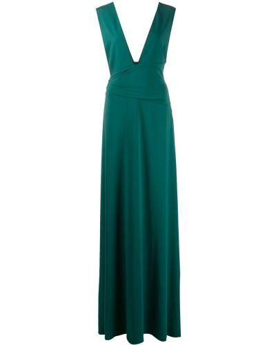 Зеленое платье с декольте Halston Heritage